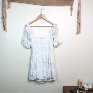 Free People Dresses - Free People Be Your Baby White Lace Babydoll Dress